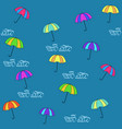 rain date seamless pattern vector image