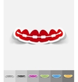 realistic design element braces vector image