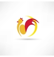 rooster wakes up in the morning icon vector image vector image