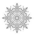 round ornamental graphic design drawing of vector image vector image