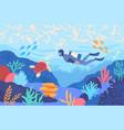sea world concept vector image