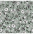 Seamless pattern with black and white plants vector image vector image