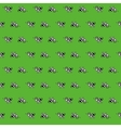 Seamless pattern with cows on the green grass vector image
