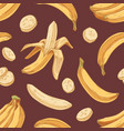seamless tropical pattern with fresh banana vector image vector image