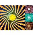 Set of abstract suns vector