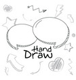 set of chat bubbles hand draw vector image vector image