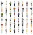 Set of people flat icons vector image vector image