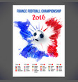 Signs Football championship 2016 on background vector image