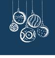 simple charcoal draw of christmas balls vector image vector image