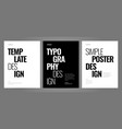 simple template design with typography for poster vector image vector image
