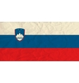 Slovenia paper flag vector image
