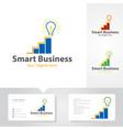 smart business logo designs vector image