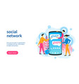 social network template vector image vector image