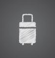 travel bag sketch logo doodle icon vector image
