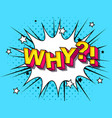 why comic cartoon explosions vector image
