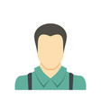 worker avatar icon flat vector image