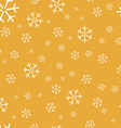 Yellow Background with snowflakes vector image vector image