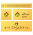 Vintage floral business card design vector image