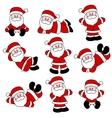 9 festive cute santa set vector image vector image