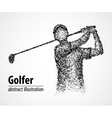 abstract golfer athlete vector image vector image