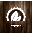 Abstract leaf on wood board EPS8 vector image vector image