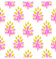 abstract leaves seamless pattern in pink vector image vector image