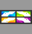 abstract liquid backgrounds set of vector image vector image