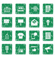 advertisement icons set grunge vector image vector image