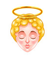 angel face isolated vector image vector image