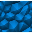 Blue triangle seamless low-poly background vector image