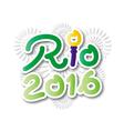 Brazil 2016 Rio de Janeiro Olympic Games banner vector image vector image