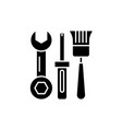 building tools black icon sign on isolated vector image vector image