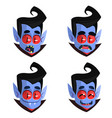 cartoon vampire heads icons vector image vector image
