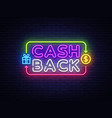 cash back sign design template cash back vector image