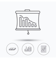 Chart cash money and statistics icons vector image vector image