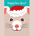 christmas cartoon rat greeting cards merry vector image vector image