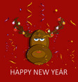 christmas reindeer fun vector image vector image