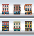 City buildings icon set vector | Price: 5 Credits (USD $5)