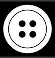 clothing button the white color icon vector image