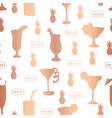 copper foil cocktail glass pattern tile vector image