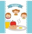 delicious breakfast vector image vector image