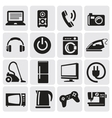 devices icons set vector image vector image