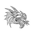 dragon head zentagle vector image