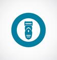 electric shaver icon bold blue circle border vector image