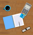 financial accountant banking vector image