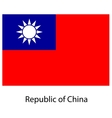 Flag the country republic of china vector image vector image