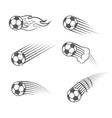 football moving symbol vector image vector image