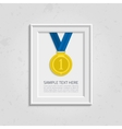 Frame for photo with medal vector image vector image