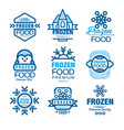 frozen food premium product set of logo templates vector image vector image