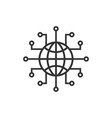 global network icon in flat style cyber world on vector image vector image